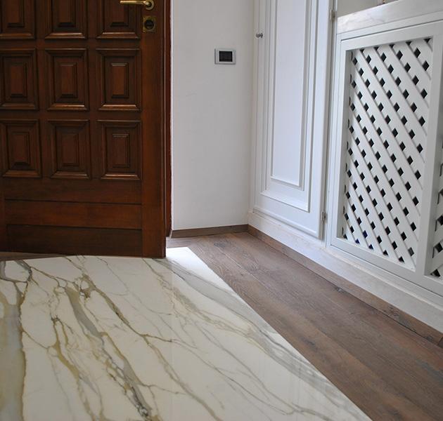 Realizzazione in marmo e legno a Carrara