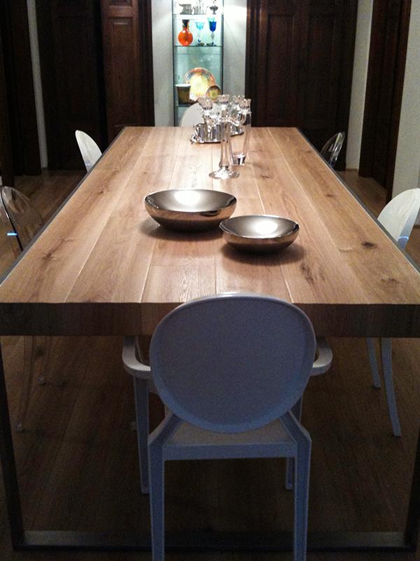 Tavolo sala da pranzo Boschi di Fiemme Reale - Parquet Snc ...